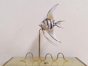 銀製置物魚2