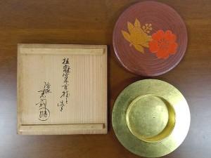 鈴木表朔 桜蒔絵香合2