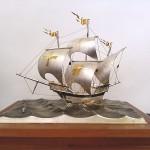 純銀製ヨット2