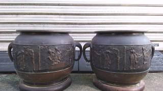 宣徳銅 瓶掛火鉢