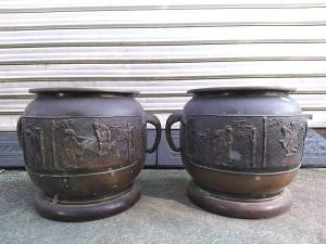 宣徳銅 瓶掛火鉢2