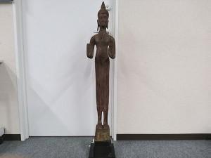 クメール木彫り仏