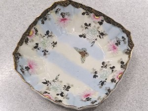 江戸末期 薄作り粉彩鉢