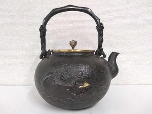 梅泉写し 金銀象嵌鉄瓶2