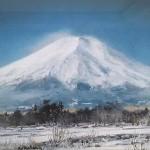黒沢信男 油彩画 「富士快晴」2