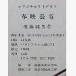 後藤純男 リトグラフ「春映長谷」4