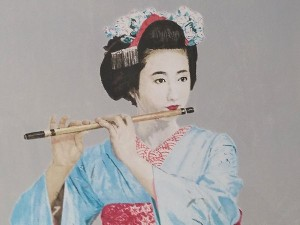 吉井淳二 リトグラフ「笛」2