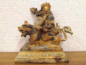 チベット金銅毘沙門天(クベール)像 明代2