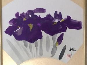麻田弁自 日本画 紫2