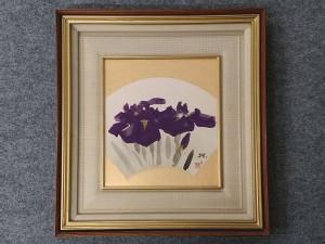 麻田弁自 日本画 紫