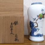 柿右衛門 錦花牡丹文花瓶