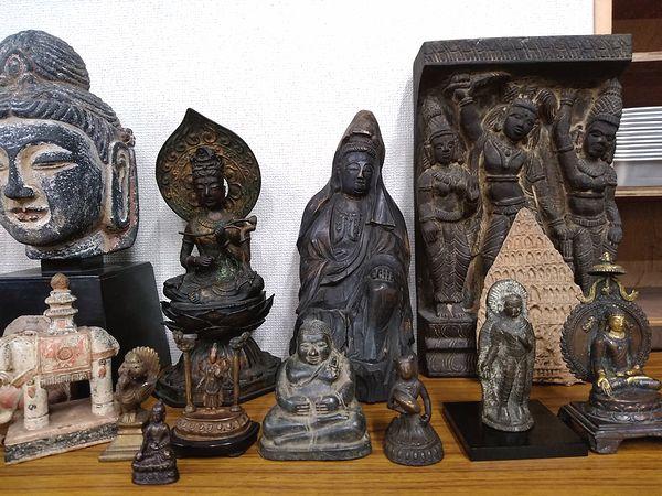 木彫り仏像、石仏、仏頭、懐中仏、チベット仏などの仏像