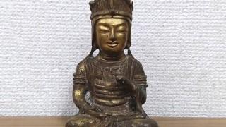 金銅仏 観音菩薩坐像