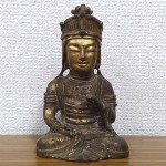 金銅仏-観音菩薩坐像-1