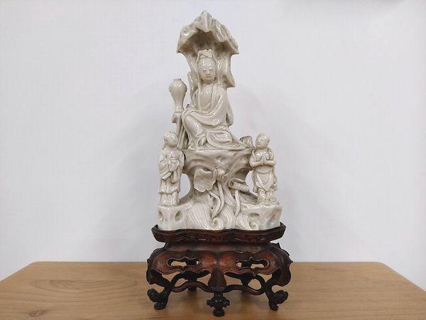 徳化窯 白磁観音菩薩像