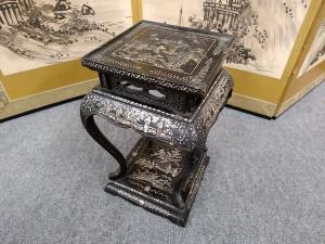青貝螺鈿高卓花台3
