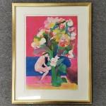 ポール・ギアマン 裸婦と花束