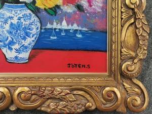 清水亟典 油彩画「薔薇」3