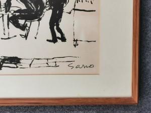 佐野繁次郎 リトグラフ 「パリの四季・秋」2