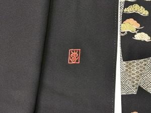 黒留袖 刺繍2
