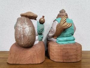 石橋古鈴 木彫 大黒天 恵比寿天「招福」3