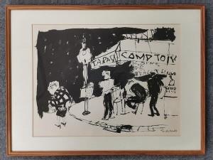 佐野繁次郎 リトグラフ 「パリの四季・秋」
