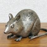 佐野宏采 ブロンズ 鼠 置物