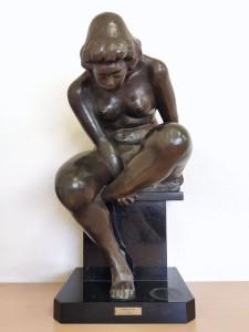 高田博厚 ブロンズ裸婦像 femme assise