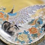 九谷錦山造 色絵孔雀図 飾皿3