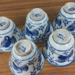 大明成化年製銘 藍染付煎茶碗4