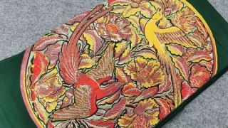 龍村平蔵製 國賓楊成盆織出し本袋帯