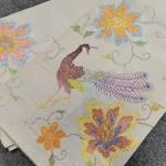 龍村平蔵製 花鳥文織出し本袋帯
