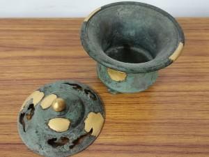 五世 秦蔵六造 塗金銅製 「瑞雲」 香爐3