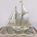 銀製ヨット 関武比古