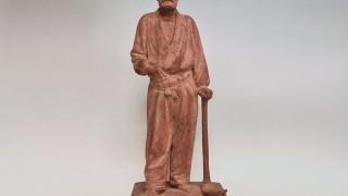 長谷川栄 木彫り  「乃木大将像」