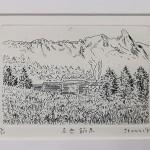 沢野ひとし リトグラフ 赤岳鉱泉2