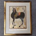 中山正 木版画「絵馬」