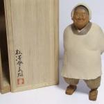 松澤登美雄 木彫り彫刻 「割烹着」2