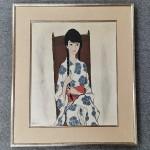 高沢圭一 油彩画 亜子(娘)の肖像