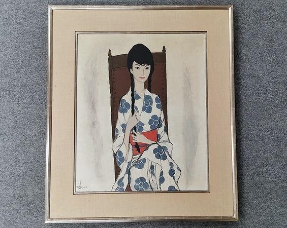高沢圭一 油彩画「亜子(娘)の肖像」