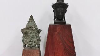 クメール美術 カンボジア 古銅仏頭1