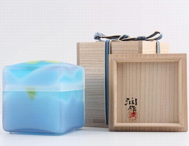 藤田潤 手吹きガラス「飾筥」