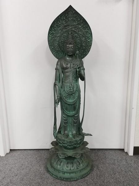 長田晴山 銅製聖観音菩薩立像