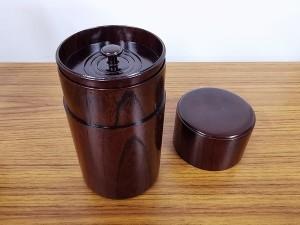 川北良造 神代欅 茶筒 2