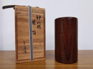 川北良造 神代欅 茶筒