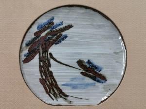 富本憲吉 鉄描皿2